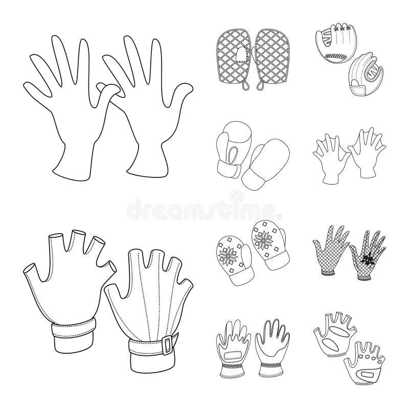 Objeto isolado de símbolo de estilo e acessórios Conjunto de ilustrações do vetor de inventário e do vetor de inventário distinti ilustração do vetor