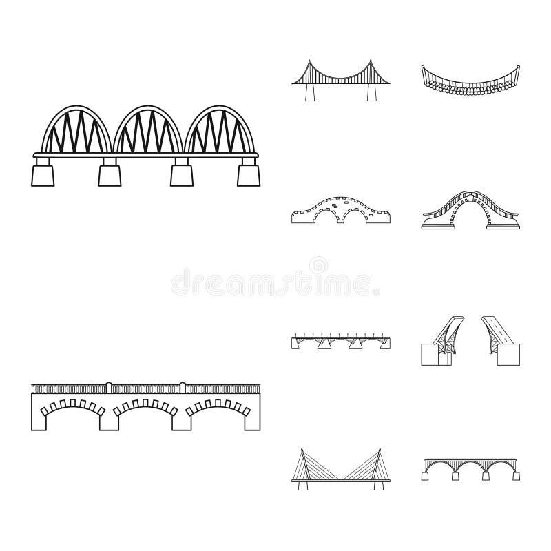Objeto isolado de vista e símbolo de ligação Coleção de visões e símbolo de ações de construção para a Web ilustração royalty free