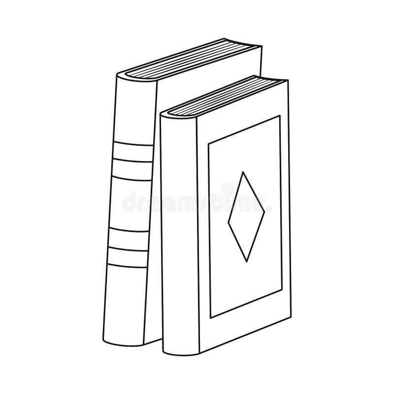 Objeto isolado do ícone do livro e do texto Coleção da ilustração do vetor do estoque do livro e da enciclopédia ilustração stock