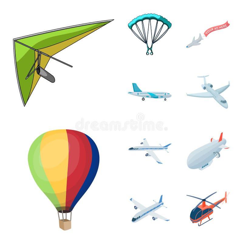 Objeto isolado do ícone do transporte e do objeto Coleção do transporte e do símbolo de ações de deslizamento para a Web ilustração do vetor