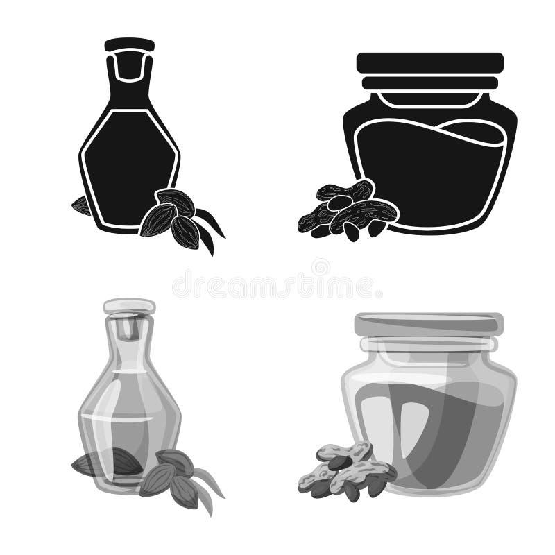 Objeto isolado do ?cone saud?vel e vegetal Ajuste da ilustra??o conservada em estoque saud?vel e da agricultura do vetor ilustração do vetor