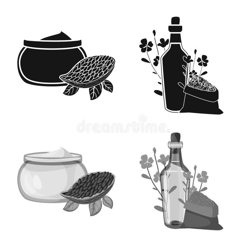 Objeto isolado do ?cone saud?vel e vegetal Ajuste do s?mbolo de a??es saud?vel e da agricultura para a Web ilustração stock
