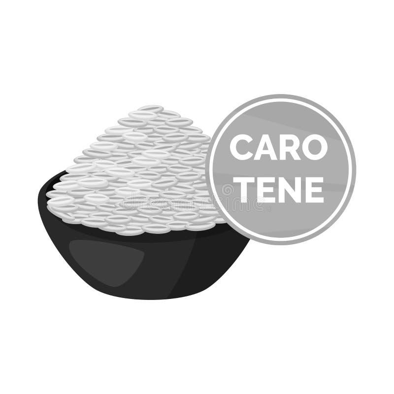 Objeto isolado do logotipo do arroz e do alimento Ajuste do arroz e da ilustração conservada em estoque do vetor da agricultura ilustração do vetor