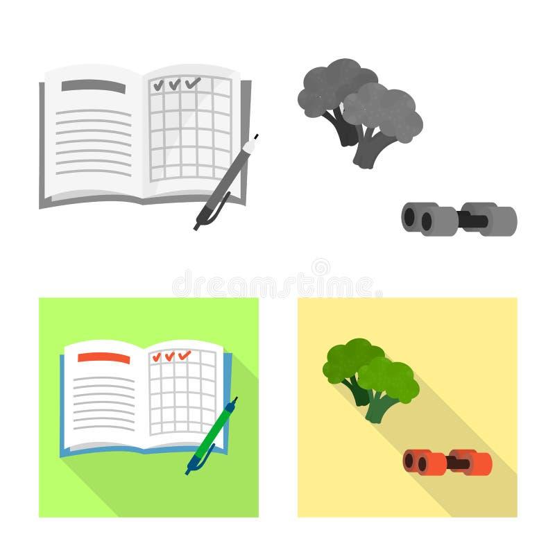 Objeto isolado do logotipo da dieta e do tratamento Ajuste do ?cone do vetor da dieta e da medicina para o estoque ilustração stock