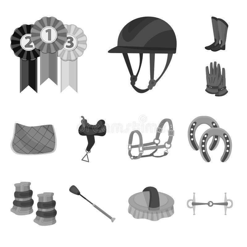 Objeto isolado do logotipo da raça e do cavalo Coleção da raça e de competir a ilustração conservada em estoque do vetor ilustração royalty free