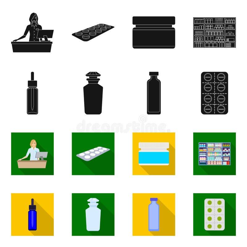 Objeto isolado do logotipo de varejo e saúde Símbolo de estoque de varejo e bem-estar para a Web ilustração royalty free