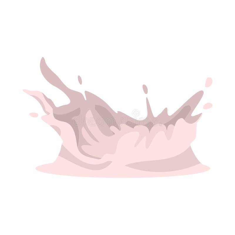 Objeto isolado do logotipo do leite e do respingo Coleção de leite e de símbolo de ações do fluxo para a Web ilustração royalty free