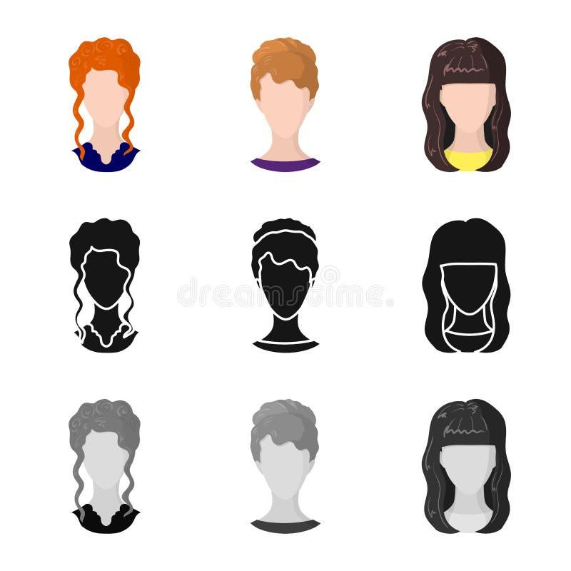 Objeto isolado do logotipo do profissional e da foto Ajuste do profissional e do símbolo de ações do perfil para a Web ilustração royalty free