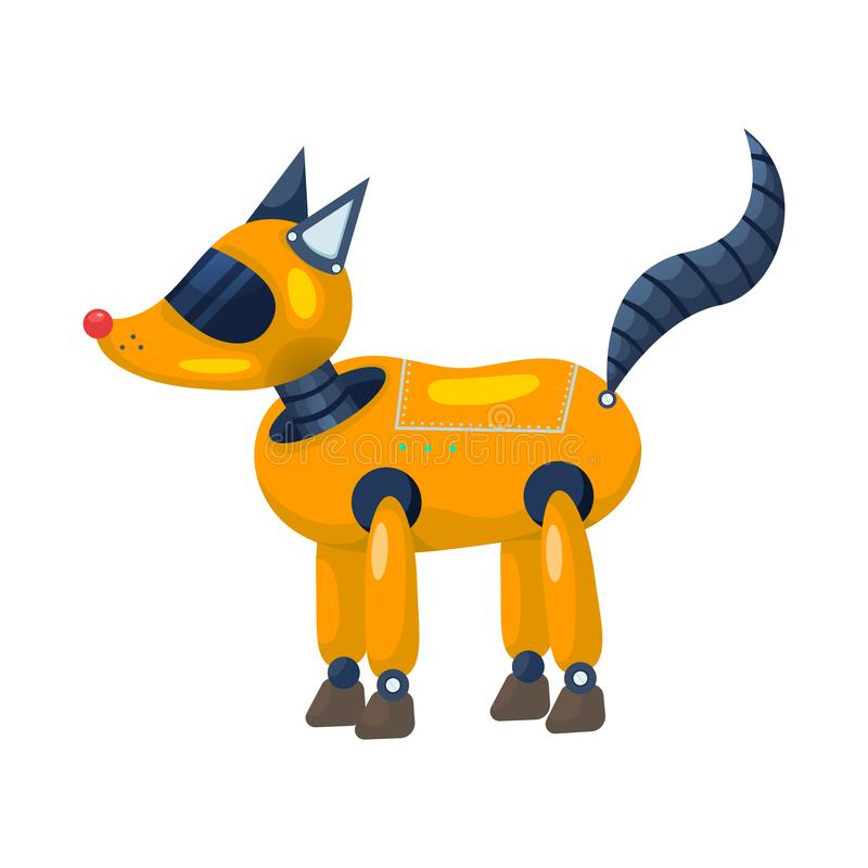 Objeto isolado do logotipo do raposa e o animal Ajuste da raposa e da ilustração conservada em estoque selvagem do vetor ilustração do vetor