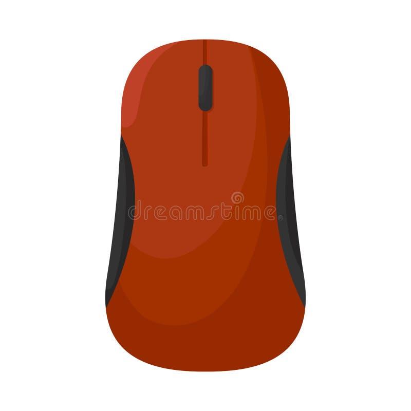 Objeto isolado do logotipo do rato e da mão Ajuste do rato e do ícone do vetor do clique para o estoque ilustração royalty free