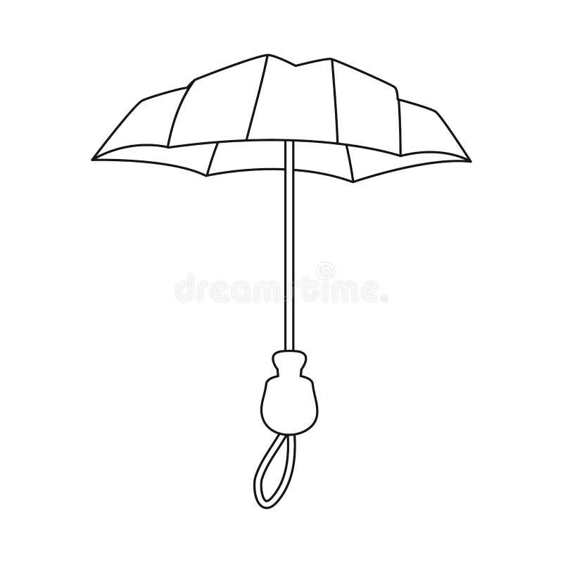 Objeto isolado do parasol e do ?cone da cobertura Cole??o do parasol e do s?mbolo de a??es cl?ssico para a Web ilustração do vetor