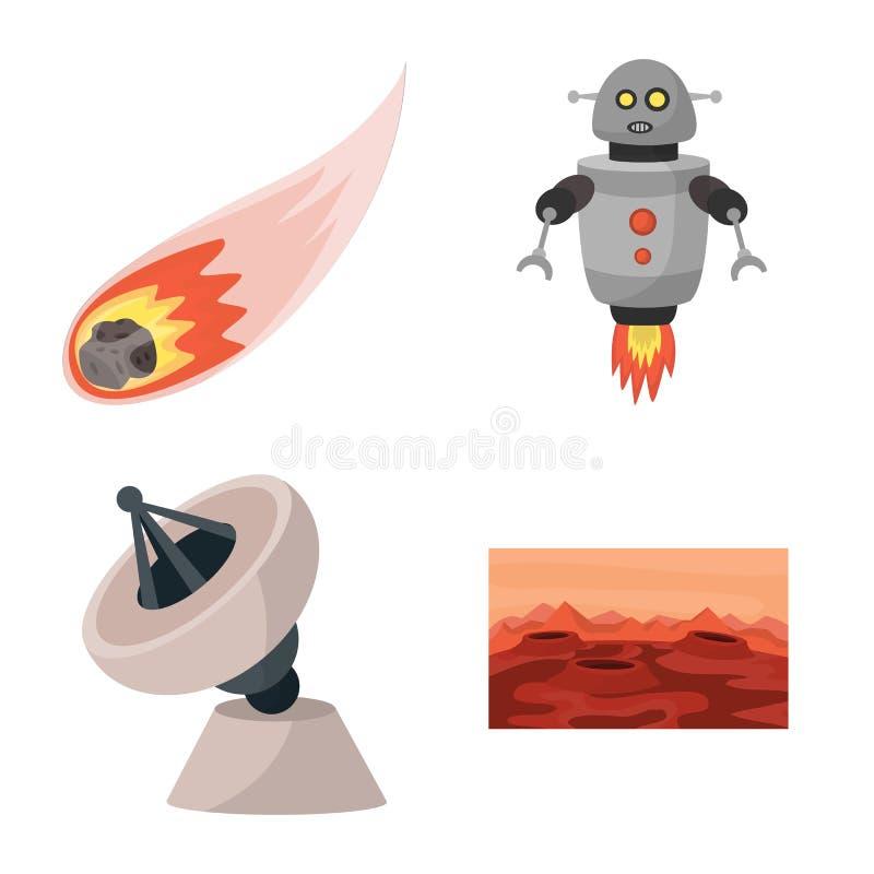 Objeto isolado do símbolo do espaço e da galáxia Ajuste da ilustração conservada em estoque do vetor do espaço e dos cursos ilustração do vetor