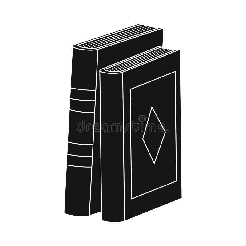 Objeto isolado do símbolo do livro e do texto Ajuste da ilustração do vetor do estoque do livro e da enciclopédia ilustração stock