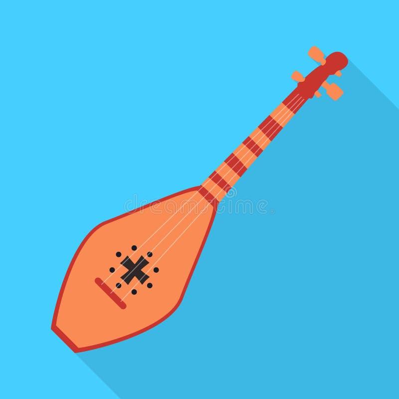 Objeto isolado do símbolo musical e do instrumento Cole??o do ?cone musical e amarrado do vetor para o estoque ilustração do vetor