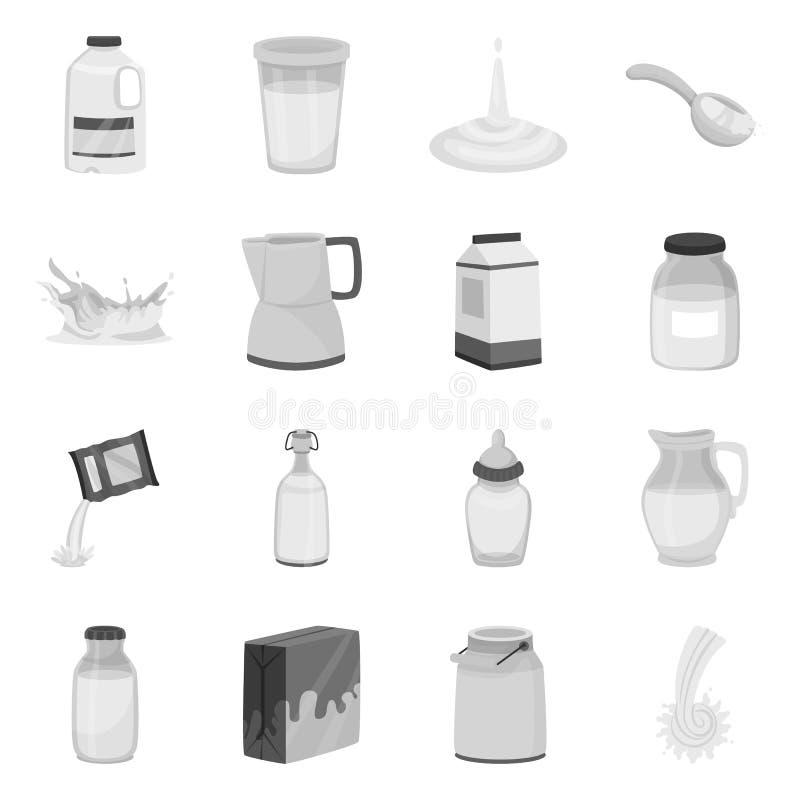 Objeto isolado do símbolo do produto e do cálcio Coleção do produto e do símbolo de ações da dieta para a Web ilustração stock