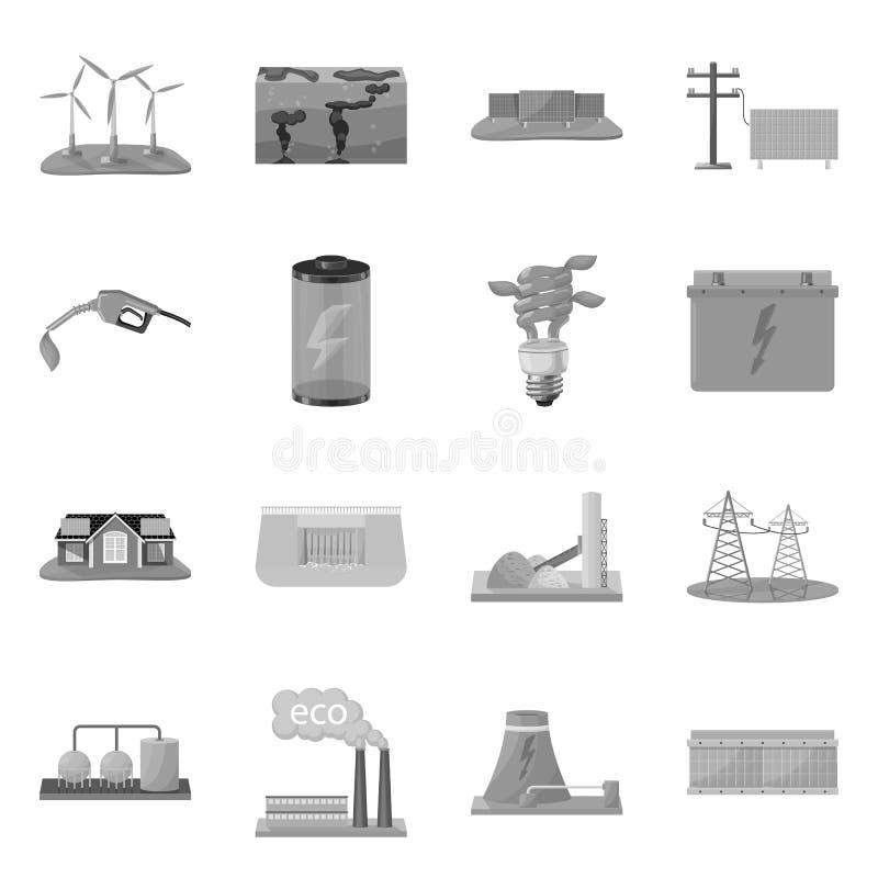 Objeto isolado do símbolo renovável e do ambiente Coleção do símbolo de ações renovável e orgânico para a Web ilustração royalty free