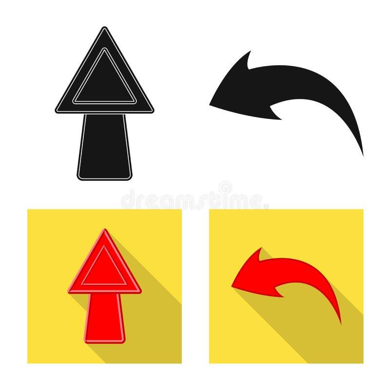 Objeto isolado do s?mbolo do elemento e da seta Cole??o do ?cone do vetor do elemento e de sentido para o estoque ilustração stock
