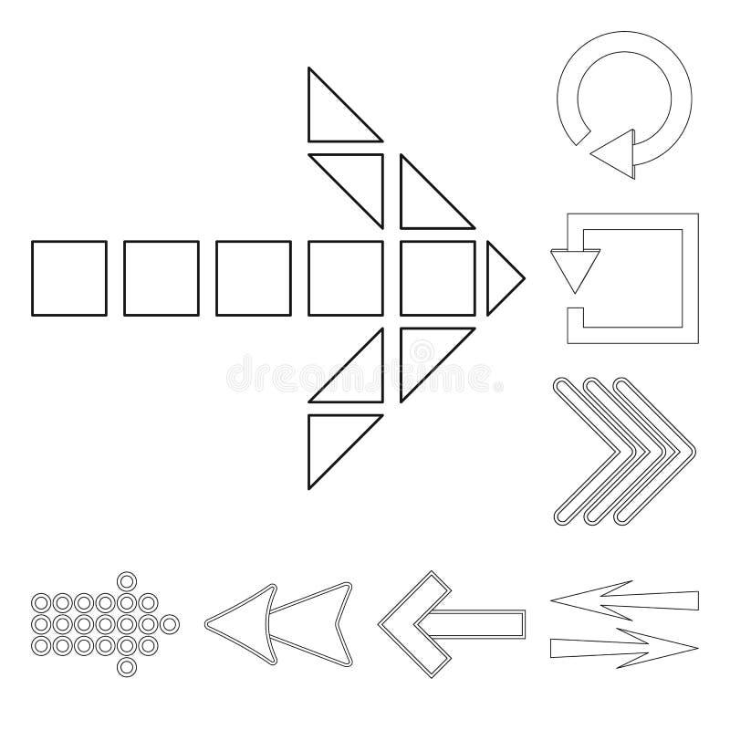 Objeto isolado do s?mbolo do elemento e da seta Cole??o do s?mbolo de a??es do elemento e do sentido para a Web ilustração stock