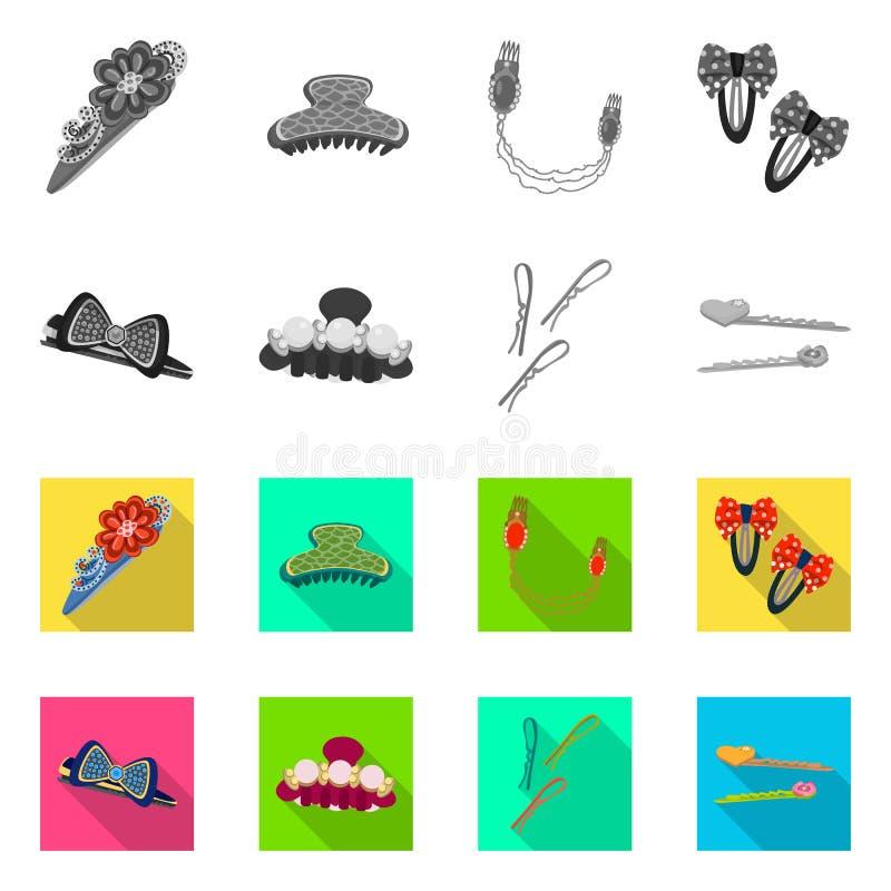 Objeto isolado do sinal da beleza e da forma Coleção da beleza e da ilustração conservada em estoque fêmea do vetor ilustração stock