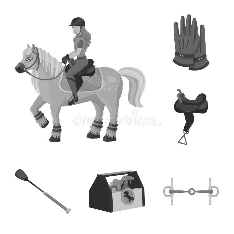 Objeto isolado do sinal da raça e do cavalo Ajuste da raça e de competir a ilustração conservada em estoque do vetor ilustração do vetor