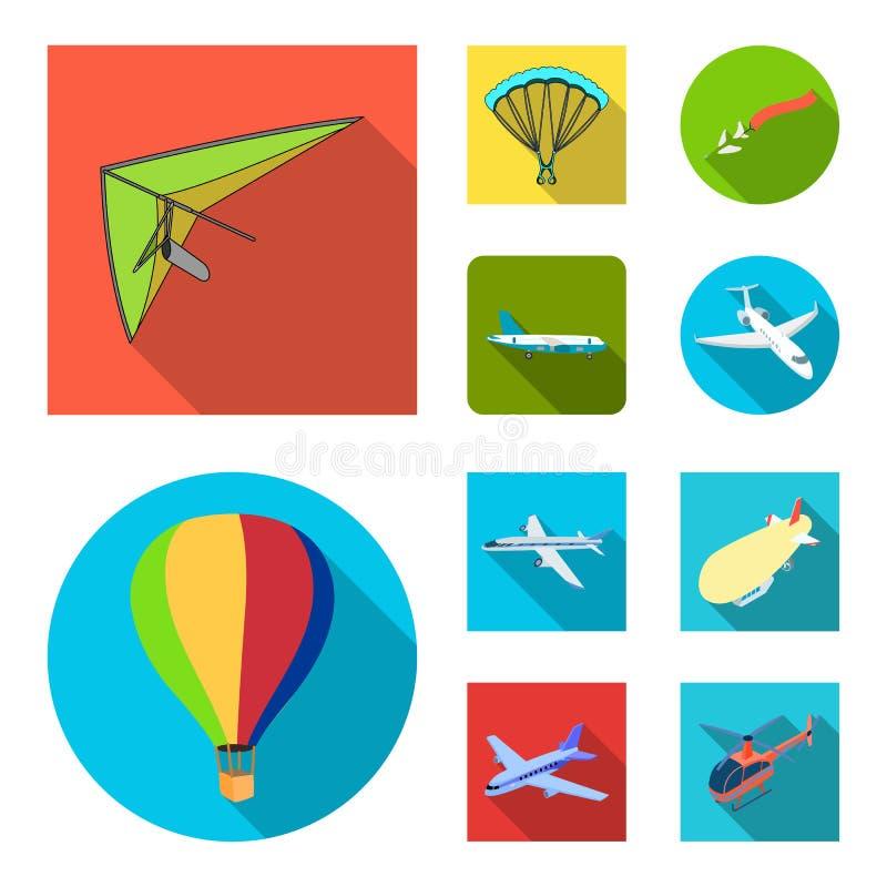 Objeto isolado do sinal do transporte e do objeto Coleção do transporte e do símbolo de ações de deslizamento para a Web ilustração do vetor