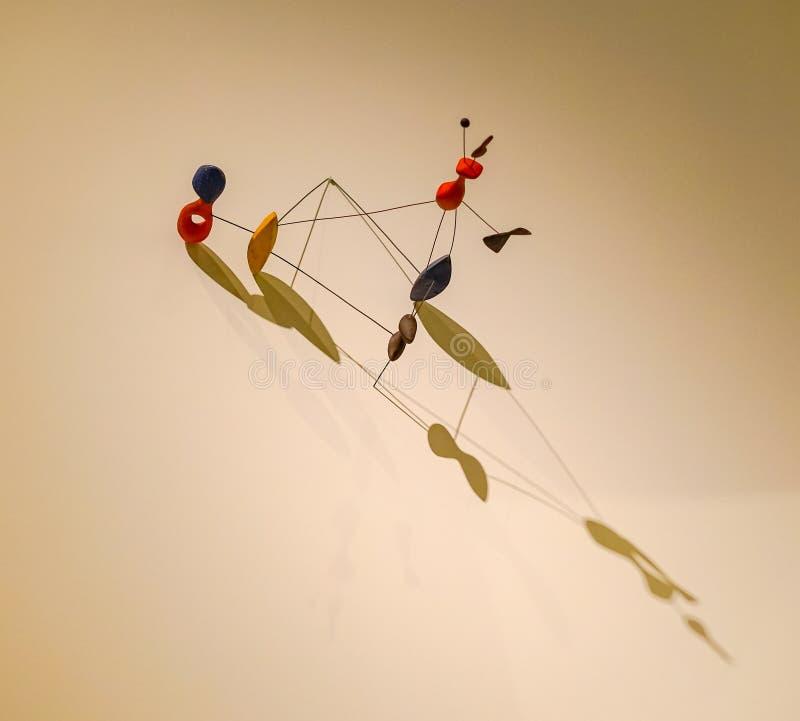 Objeto móvil de la creación, exposición de Calder imágenes de archivo libres de regalías
