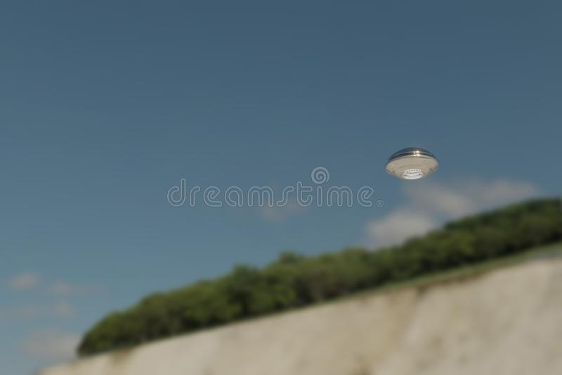 Objeto volante no identificado foto de archivo