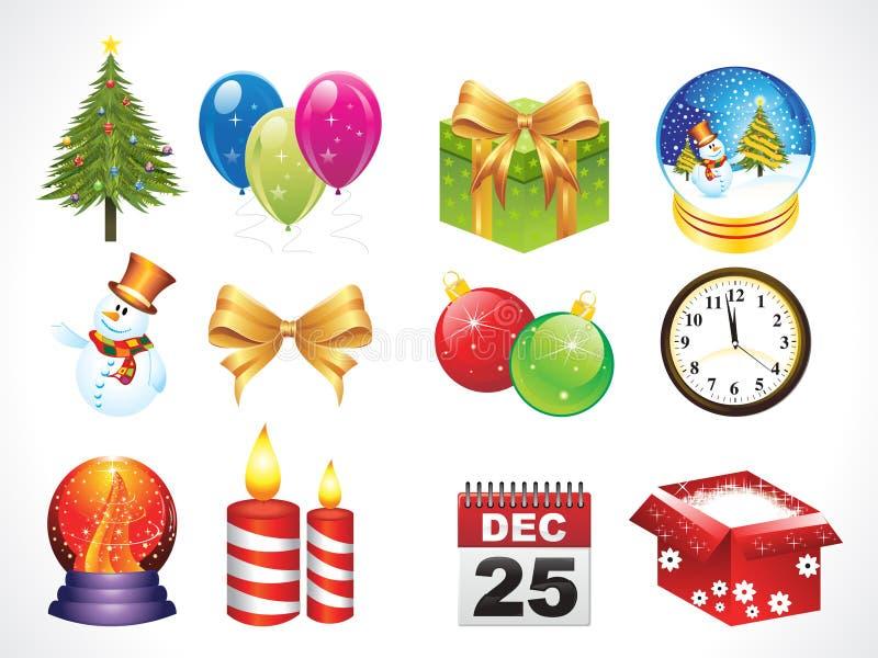 Objetos abstractos de la navidad ilustraci n del vector ilustraci n de burbuja vela 17366114 - Objetos de navidad ...