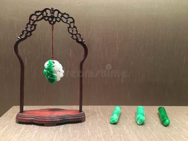 Objetos antigos do jade em China fotografia de stock royalty free