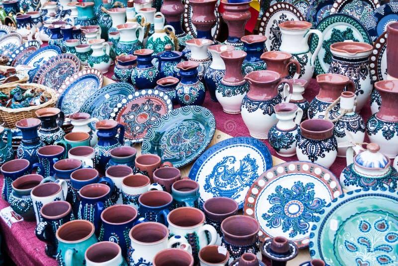 Objetos cerâmicos foto de stock