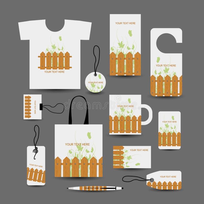 Objetos comerciales corporativos, estilo de madera para su libre illustration