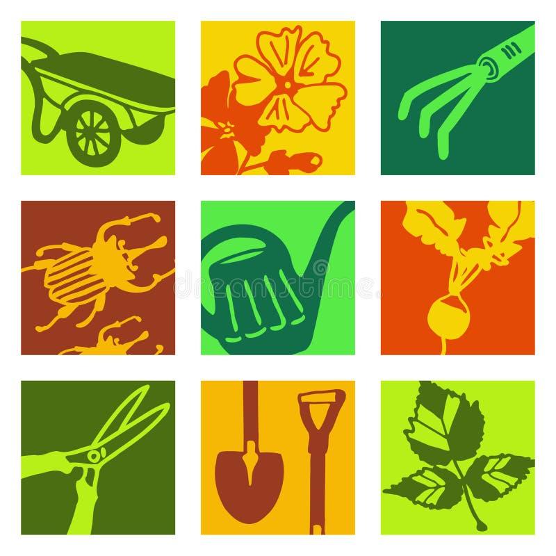 Objetos da arte de PNF - jardinando ilustração do vetor