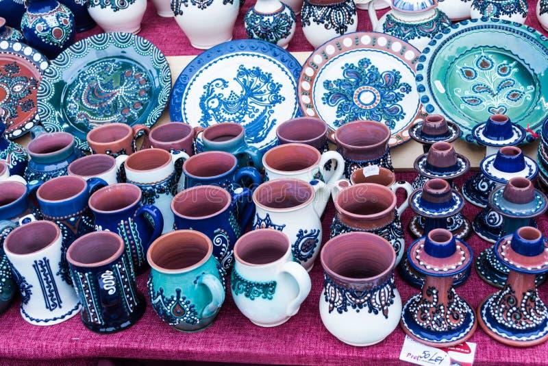 Objetos da cerâmica imagens de stock