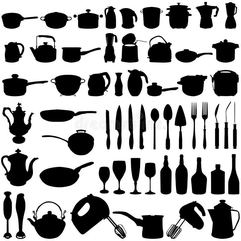 objetos da cozinha ilustração do vetor