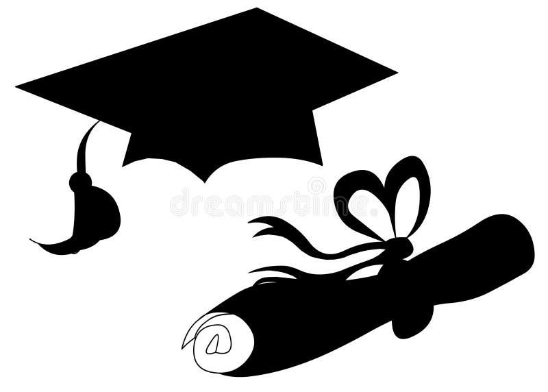 Objetos da graduação ilustração stock