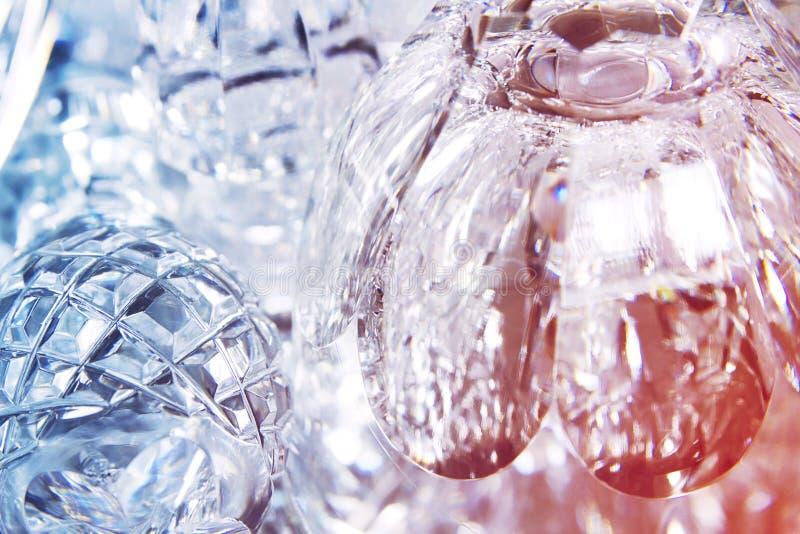 Objetos de cristal con reflejo imagen de archivo