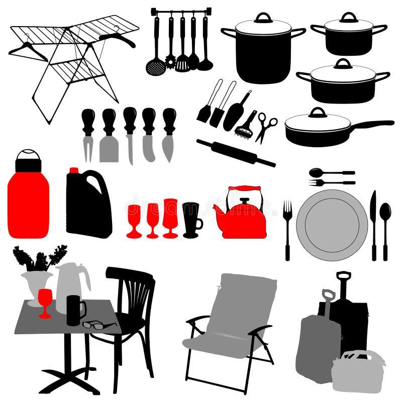 Objetos de la cocina ilustraci n del vector ilustraci n de econom a 12724919 - Objetos de cocina ...