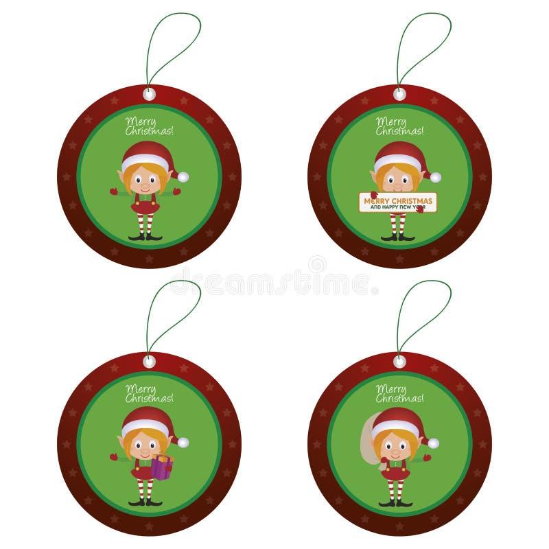 Objetos de la Navidad stock de ilustración