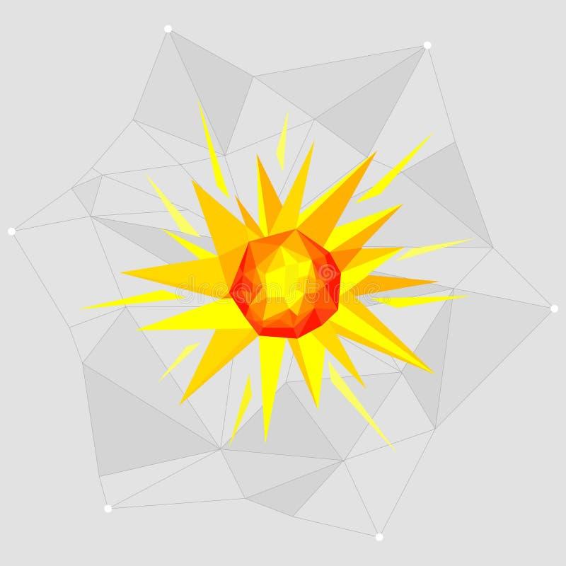 Objetos de Minimalistic do espaço em um estilo geométrico em um fundo cinzento ilustração royalty free
