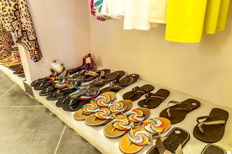 Objetos de um boutique africano foto de stock