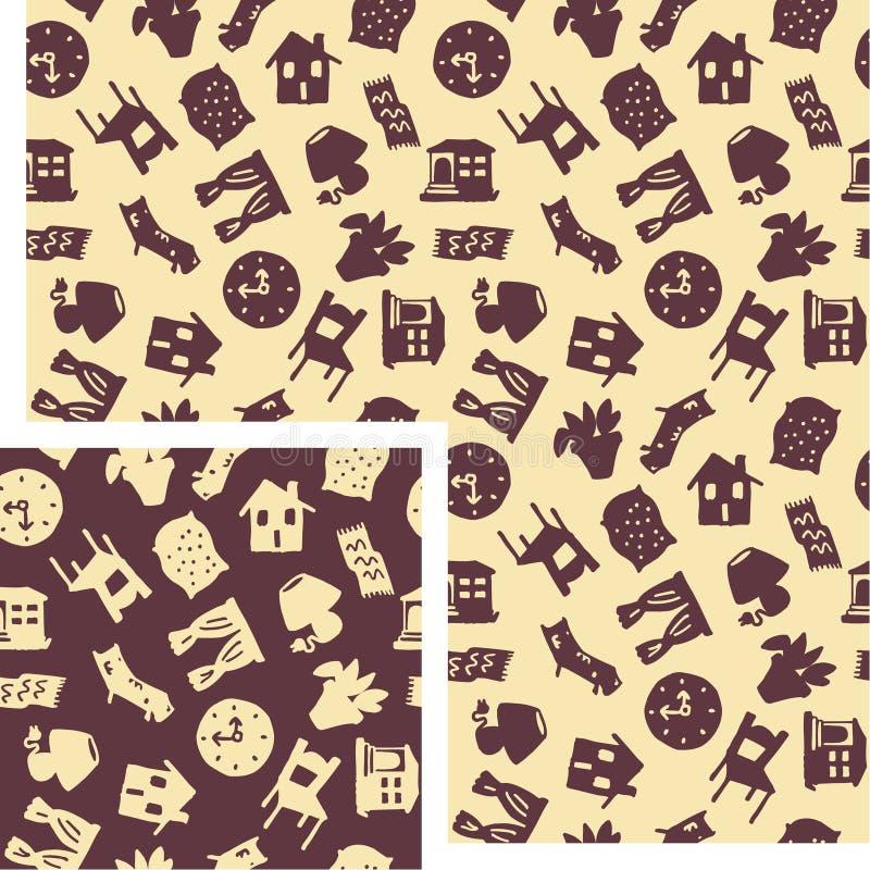 Objetos - decoración ilustración del vector