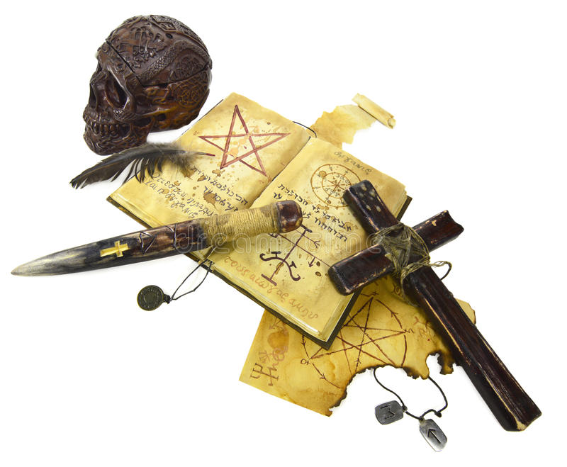 Objetos del asesino del vampiro imágenes de archivo libres de regalías