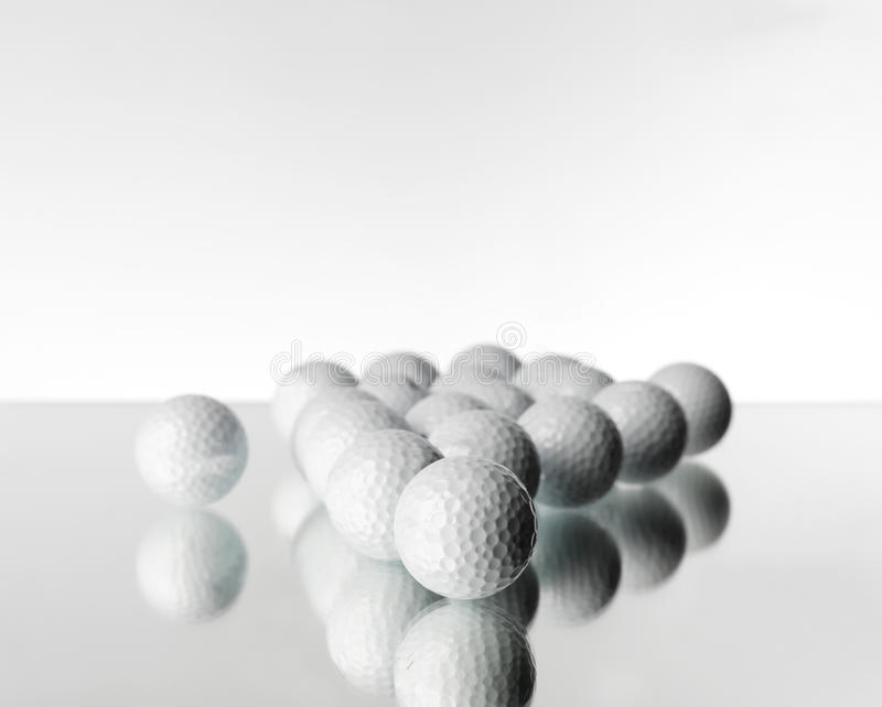 Objetos del golf fotos de archivo