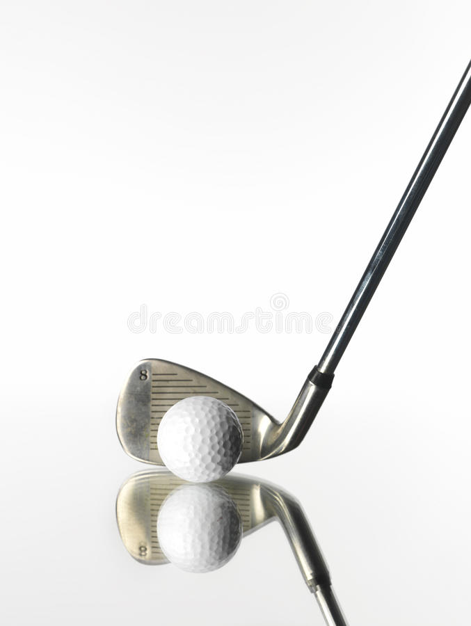 Objetos del golf imagen de archivo libre de regalías