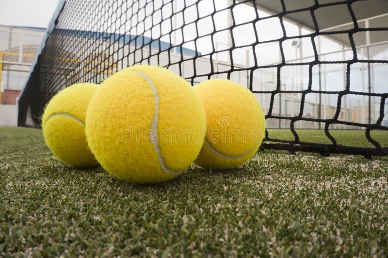 Objetos del tenis de la paleta foto de archivo libre de regalías