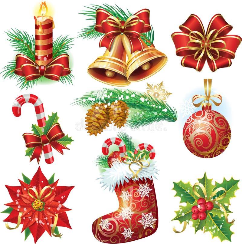 Objetos do Natal ilustração stock