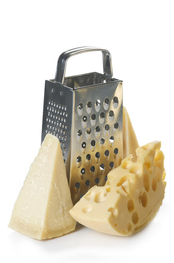 Objetos do queijo e da grosa imagens de stock
