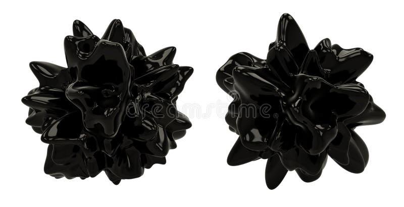 Objetos escuros do sumário 3D imagens de stock royalty free
