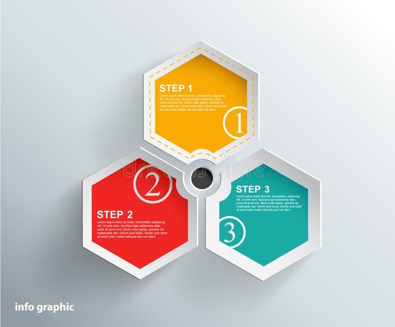 Objetos gráficos de la información con el lugar para su texto. libre illustration