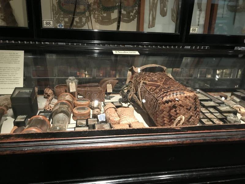 Objetos médicos nos Pitt-rios museu, Oxford, Reino Unido fotos de stock royalty free